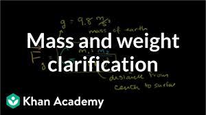 Power Pole Weight Chart Mass And Weight Clarification Video Khan Academy
