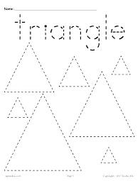 Free Tracing Worksheets Shapes Name Worksheet Generator Numbers
