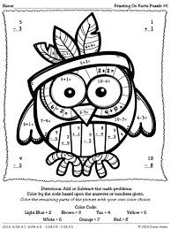 thanksgiving coloring pages and puzzles thanksgiving multiplication coloring pages elegant best color by the code math thanksgiving coloring
