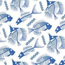 Fish Pattern Custom Fish Skeleton Pattern SchumannDesigns
