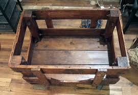 wooden factory cart olde good things