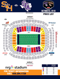 Reliant Seating Chart Football Nrg Stadium Seating Chart Sam Houston State Bearkats Athletics