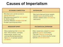 Reasons For Imperialism Today I Need To Learn What Are Four Motives For Imperialism Was