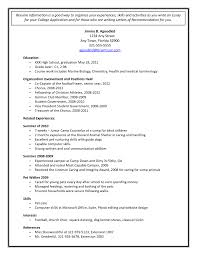 Resume High School For College Sample Admissions Template Student