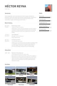 Architectural Intern Resume Samples Visualcv Resume Samples Database