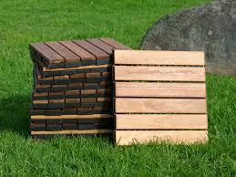 outdoor wooden deck tiles 6 slat pack of 12