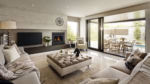 modern house interiors. visualization for family house with cream color interior in greenvale, australia modern interiors +