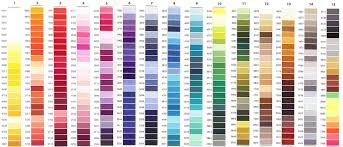 Amann Isacord 40 1000 Mt Colors From 00003 To 2500