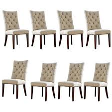fabric dining chairs with nailheads. chair parsons w nailheads modern our designs upholstered beige fabric trim tufted dining chairs with nailhead