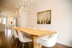 dining chairs toronto dining room modern with high gloss cabinets worn wood dining table rustic