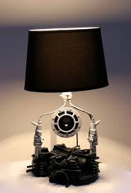 motorcycle engine parts table lamp