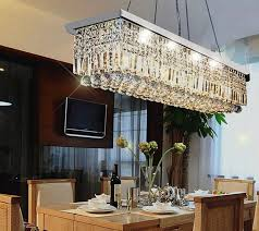 gorgeous rectangular crystal chandelier dining room allure crystal chandelier with silk drum shade contemporary