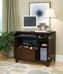 compact office furniture. Furniture. Classic Brown Varnished Oak Compact Office Desk With . Furniture