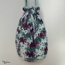 Drawstring Bag Pattern Impressive Ravelry Blossom Drawstring Bag Pattern By Rhelena's Crochet Patterns