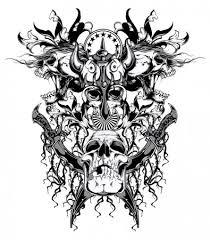 Viking Hlavy Tetování Stock Vektory Royalty Free Viking Hlavy