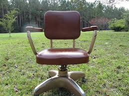 vintage metal office chair. vintage office chair rolling chairmetal chairfaux leather chairbrown metal c