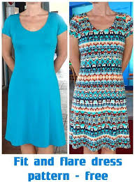 Fit And Flare Dress Pattern Mesmerizing Fit And Flare Dress Free Pattern Sewing Tutorials Pinterest