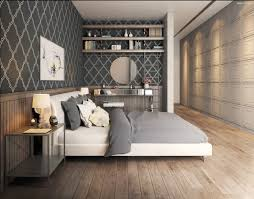 wallpapered office home design. Bedroom Wallpaper Designs | Interior Design Ideas. Wallpapered Office Home