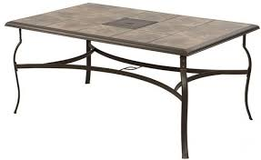 belleville rectangular patio dining table ceramic tile top antique bronze finish