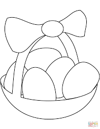 Small Picture Easter Basket with Eggs coloring page Free Printable Coloring Pages