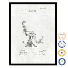 home office artwork. 1879 Dentist\u0027s Chair Vintage Patent Artwork Black Framed Canvas Print Home  Office Decor Great For Dentist Orthodontist Home Office Artwork