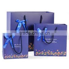 hot type colors thermal design logo printed foldable paper ping gift bags printed paper bag