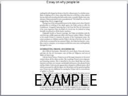essay on why people lie custom paper help essay on why people lie