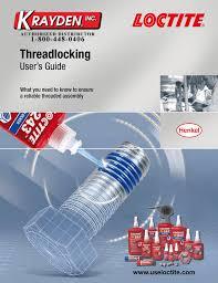 Loctite Threadlocker Chart Loctite Threadlocking Guide