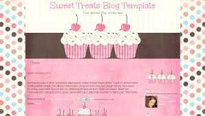 Cute Template Cute Cupcake Premade Blogger Blog Template Sweet Treats