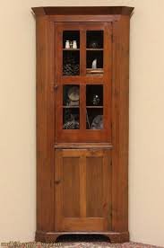 Country Pine 1840 Antique Corner Cabinet