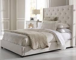 Full Upholstered Bed Frame White Upholstered Headboard Queen Lifestyleaffiliateco