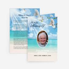 Funeral Cards Template Dove Funeral Card Funeral Pamphlets 2