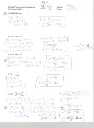 solving trig equations practice page 1