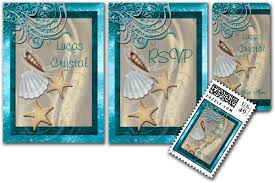 Sea Shell Wedding Invitations Wedding Cards And Gifts Shimmering Seashell Teal Beach
