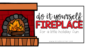 do it yourself fire place for easy holiday fun