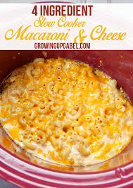 4 ing slow cooker mac and cheese