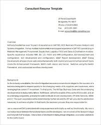 Sap Security Consultant Resume Samples Best Of Sap Security Consultant Resume Samples Printable The Ethics Of