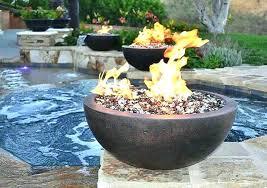 gas fire pit glass propane rocks elegant beautiful outdoor american fireglass wind guard
