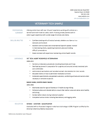 Best Resumes 2017 Veterinary Technician Resume Templates Page 100 Best Example 99
