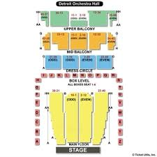 Dso Seating Chart Detroit Music Hall Online Charts Collection