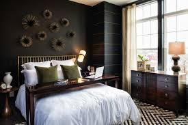 black bedroom. Modren Bedroom Paint Thin Gold Stripes Onto One Of Your Black Walls To Add Brightness  Bedroom On Black Bedroom D