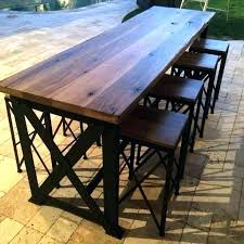 interior amish made patio pub bar sets pinecraft outdoor pub table intended for outdoor pub