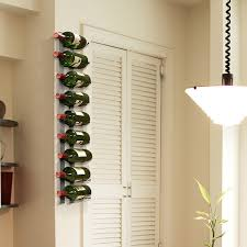 wall mounted wine rack   bottles  epicureanist  touch of modern
