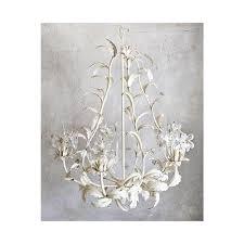 vintage metal white chandelier with crystal flowers 63 from regarding popular house vintage white chandelier prepare