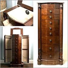 espresso jewelry armoire large locking jewelry espresso finish in idea 1 hives honey chelsea espresso jewelry armoire