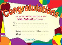 Congratulation Certificate Congratulation Templates Delightful Secondary A1 A2 Certificates