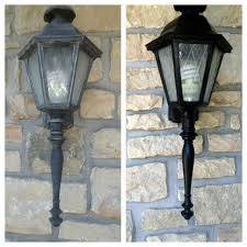 how to paint outside light fixtures