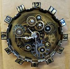 steampunk gears wall clock industrial