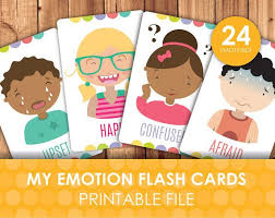 Emotions Chart For Kindergarten Printable Emotions And Expressions Faces Flashcards How Do