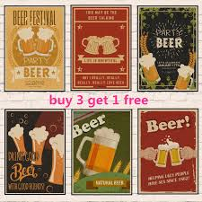 Us 1 58 Beer Wine Drink Chart Collection Bars Vintage Kraft Paper Poster Retro Painting Vintage Bar Pub Cafe Wall Sticker Adornment In Wall Stickers